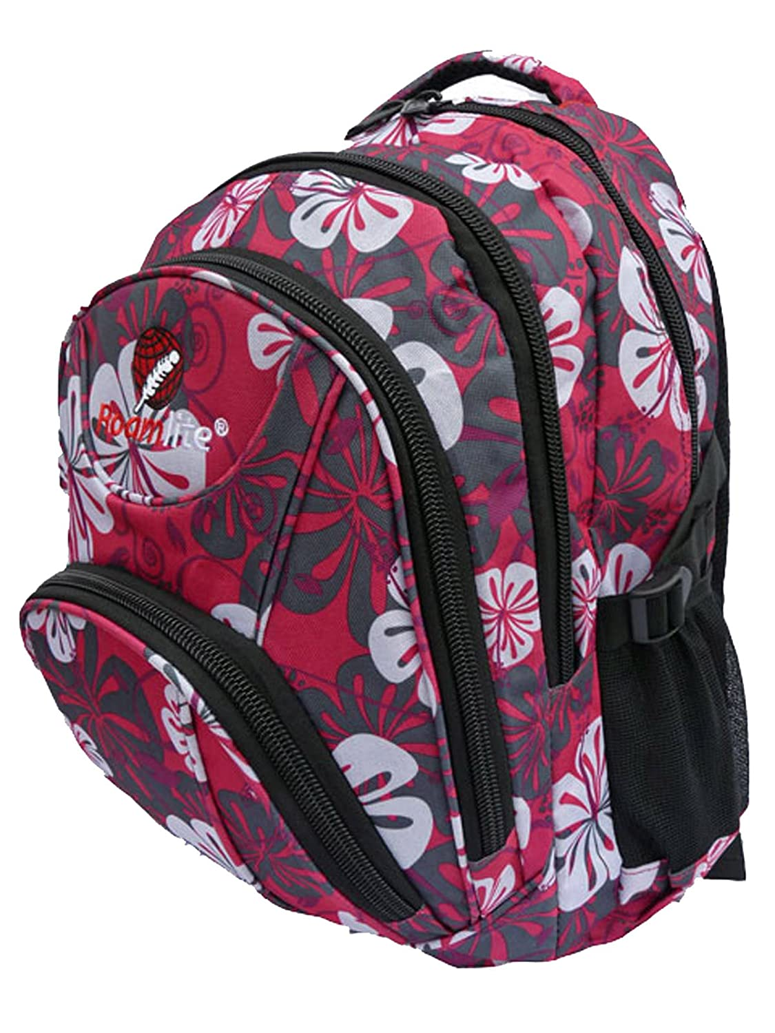 b516974c26bf Backpacks for Skiing and Snow Boarding - Hand Luggage 30 Litre size Rucksack  Daypack - Pink Flowers Print - Multiple Pockets and Compartments - Cabin Bag  ...