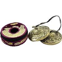 "NHZ Tingsha Tibetan Meditation Bell 2.5"" Embossed with free case (Bronze)"