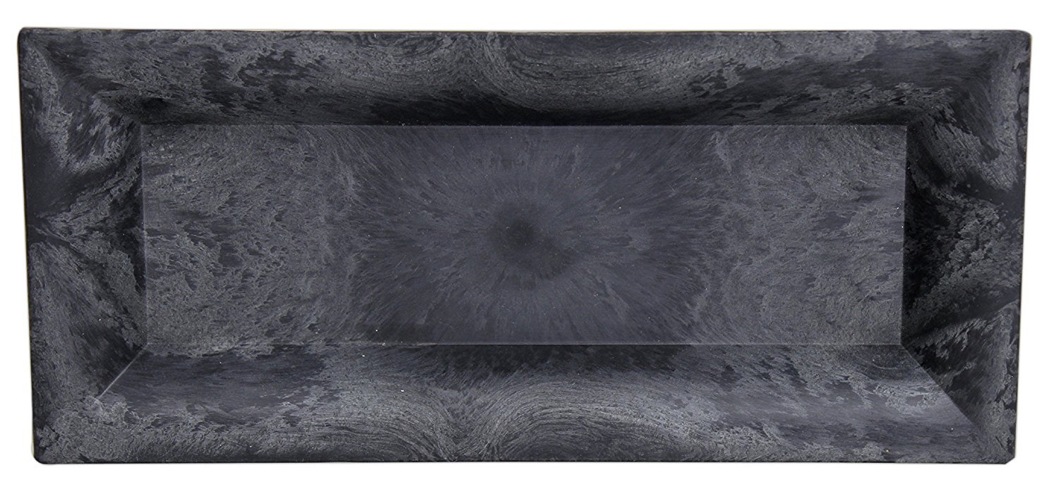 Hills Parks 11 x 5 Slate Grey Recycled Plastic Tray Hill/'s Park/'s 4-283NC//1-SL