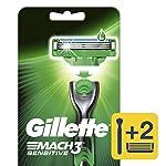 Gillette Mach3 Sensitive 1 Máquina Para Afeitar Recargable + 2 Cartuchos Para Afeitar