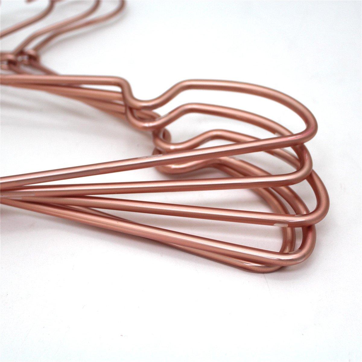Abrigos Percha para Ropa de 17 Pulgadas para Adulto Metal Brillante Cobre Oro Rosa Perchas de Alambre para Camisas Almacenamiento y visualizaci/ón 30 PS//Lot Koobay