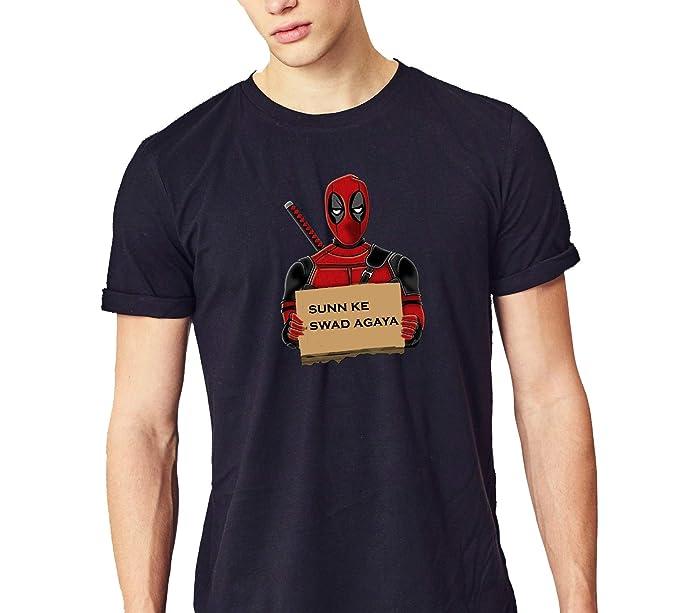 Coool Funny Deadpool T Shirt Sun Ke Swad Agaya For Men Cotton