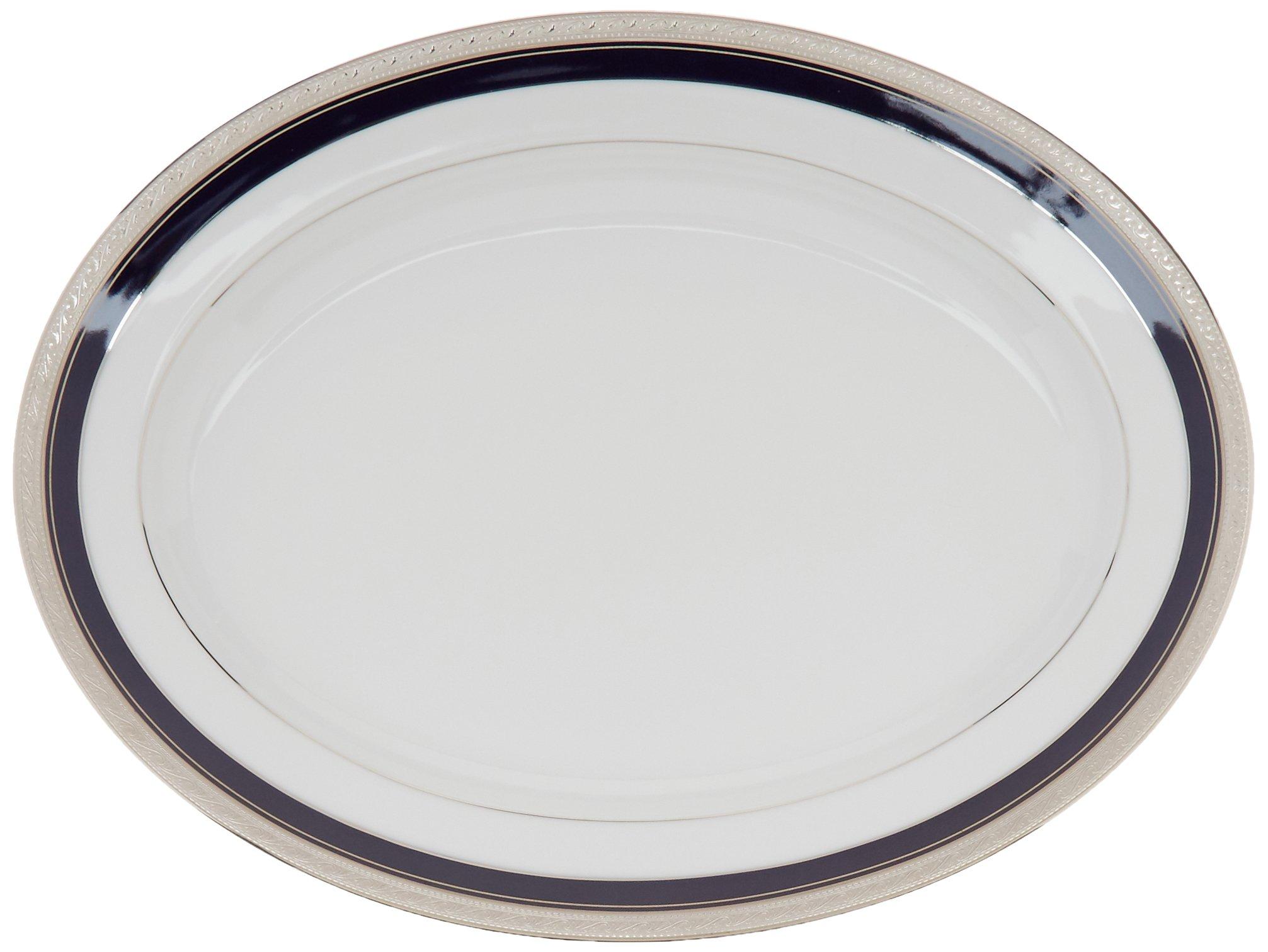 Noritake Crestwood Cobalt Platinum 16-Inch Oval Platter