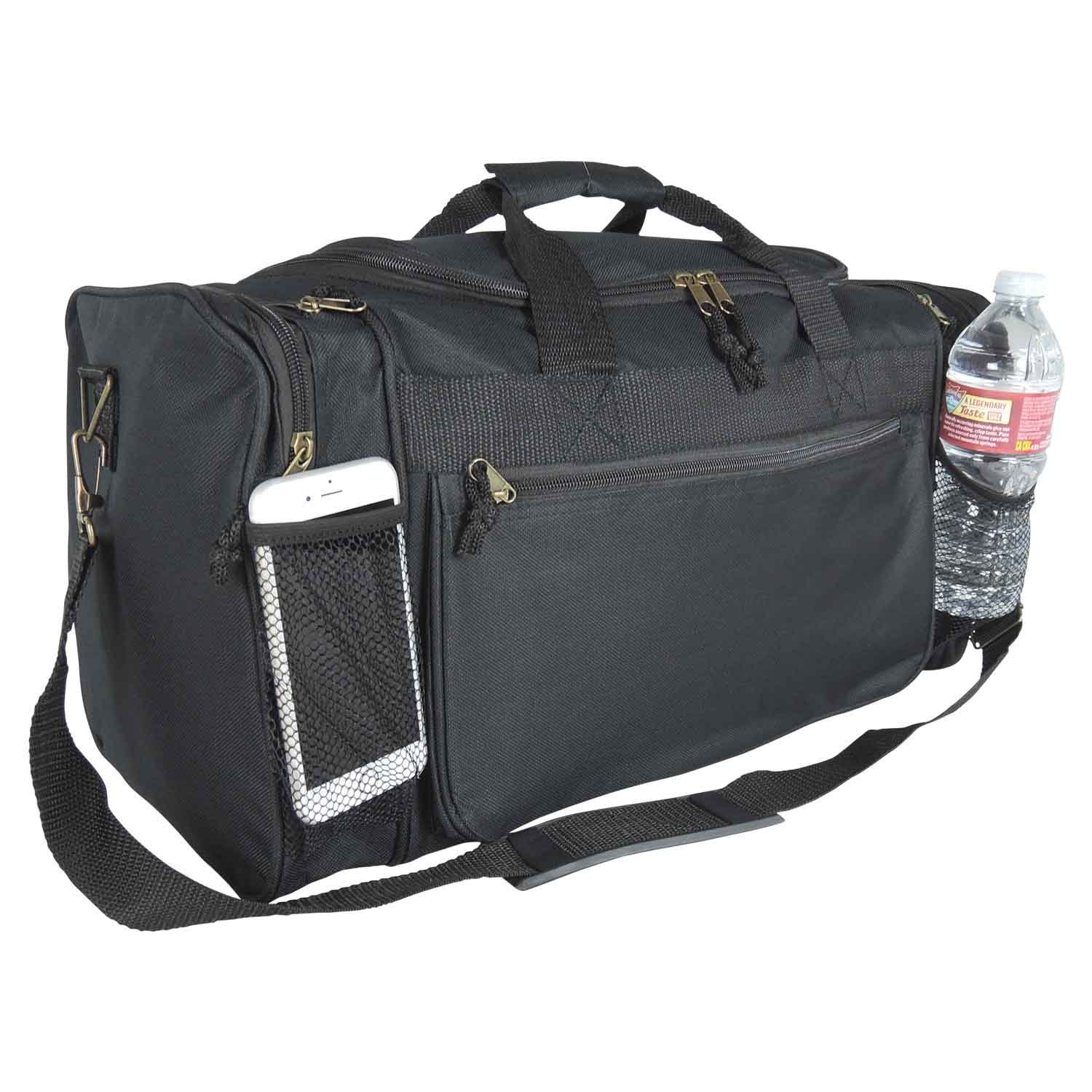 Amazon Dalix 20 Inch Sports Duffle Bag With Mesh And Valuables Pockets Black Outdoors