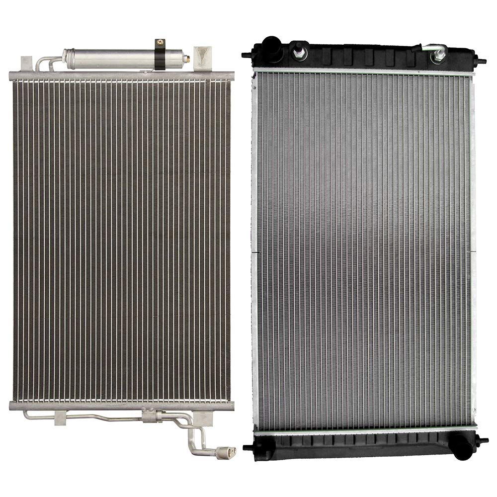 SCITOO Radiator+AC A/C Condenser Compatible with AC3639 2988 2007-2012 Nissan Altima 2009-2013 Nissan Maxima 2.5 3.5L 818296-5206-1420041221