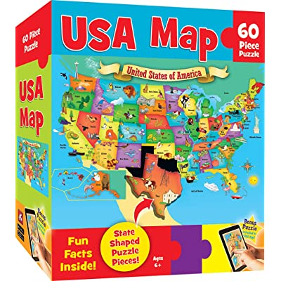 MasterPieces Explorer Kids - USA Map - 60 Piece Kids Puzzle: Toys & Games