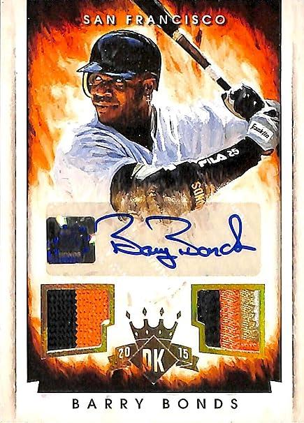 a516eb64d3f Barry Bonds Autographed 2015 Panini Diamond Kings Baseball Card  204 San  Francisco Giants  07