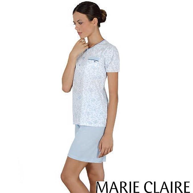 MARIE CLAIRE - Pijama Mujer Mujer Color: Celeste Talla: 44