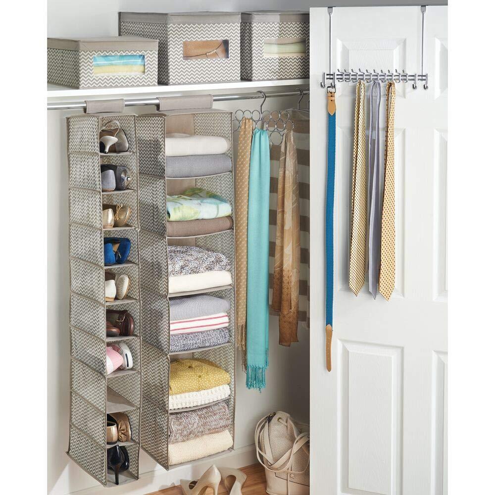 mdesign tela suave armario de almacenamiento Topo // Natural Jersey plataforma de almacenamiento Organizador 6 estantes