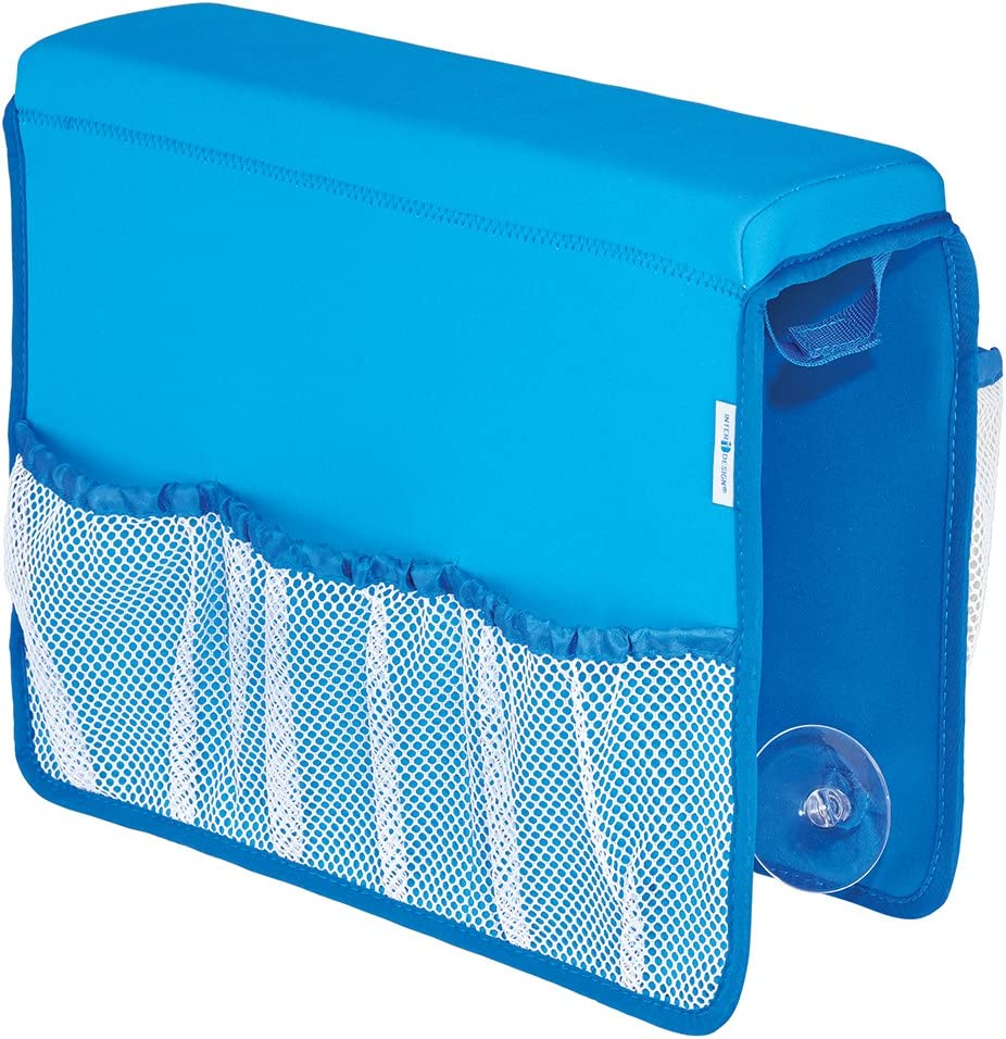 InterDesign Tub Saddle Storage, Neoprene/Mesh, Blue