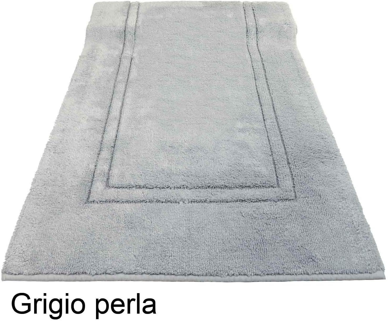 60x110 cm. Avorio CASA TESSILE Tappeto Bagno Antiscivolo Bamboo