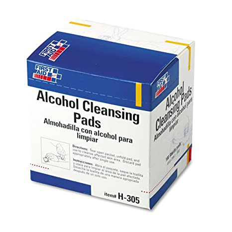 First Aid Only H305 Alcohol Cleansing Pads Dispenser Box 100/Box