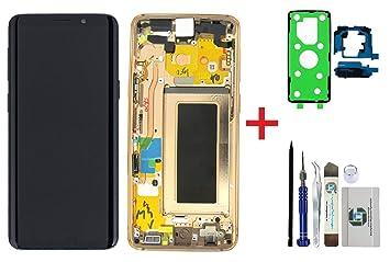 iTG® - Kit de reparación de Pantalla Original para Samsung Galaxy S9 SM-G960F (Unidad de Pantalla LCD Completa de Samsung, Incluye Tapa de batería, Adhesivo 3M y Juego de Herramientas): Amazon.es: Electrónica