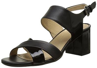 Geox D AUDALIES MID SANDA Noir - Chaussures Sandale Femme