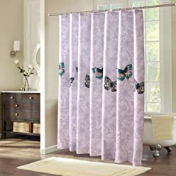 Shower Curtain Umfassen Sie Den Traumschmetterlingsdacron Tuchvorhang Wasserdichter Mehltautoiletten Badezimmerhaken Besonders Angefertigt