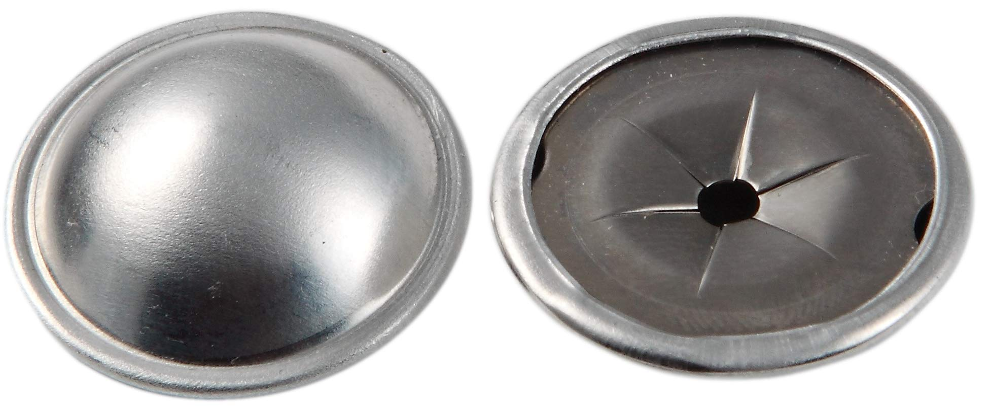 Insulation Dome Cap Washers (100, Aluminum) by BRB Products