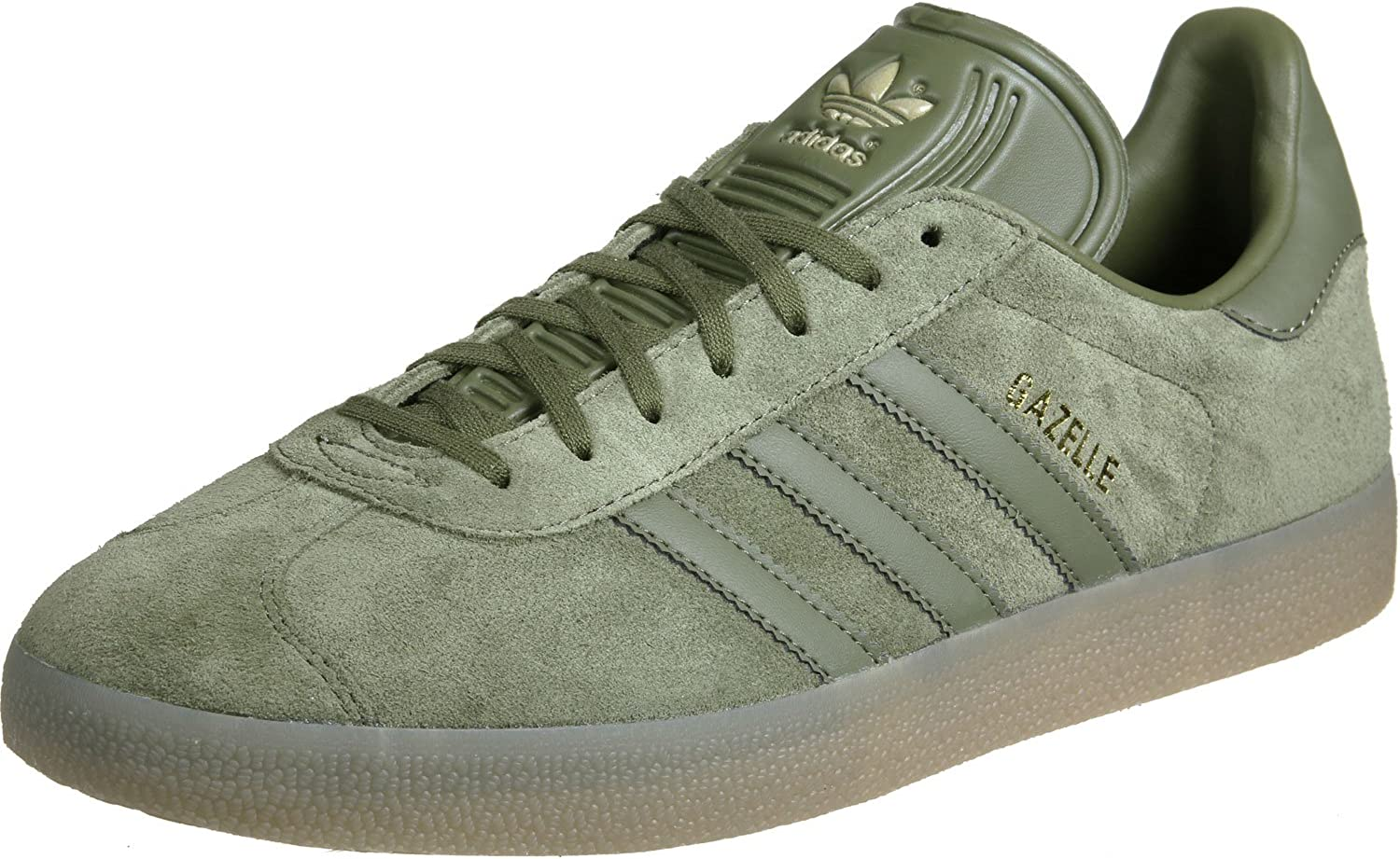 adidas Men's Gazelle Bass Trainers, Green (Olive Cargo/Olive Cargo ...