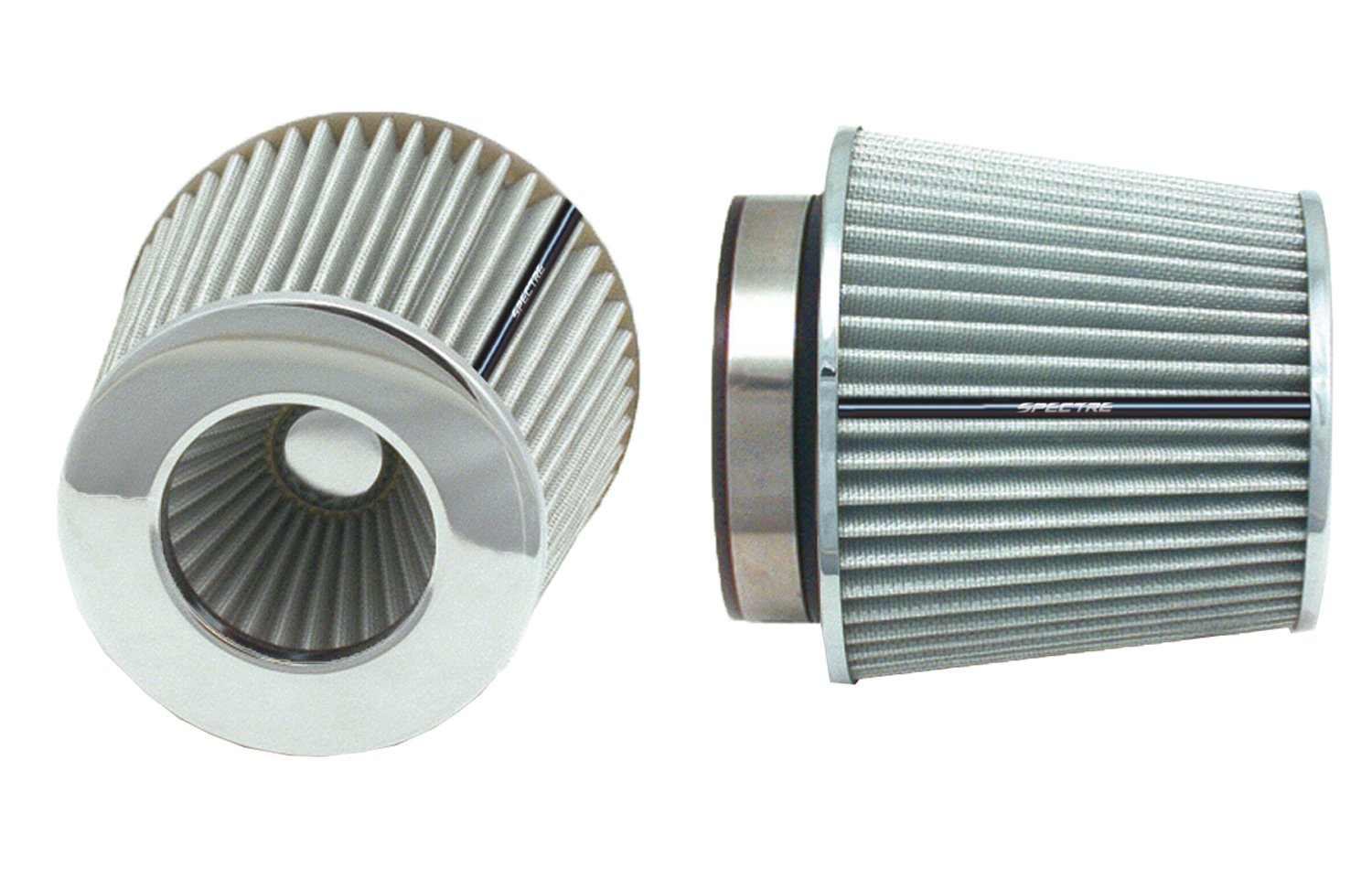 Spectre Performance 8138 Universal Clamp-On Air Filter: Round Tapered; 3 in/3.5 in/4 in (102 mm/89 mm/76 mm) Flange ID; 6.719 in (171 mm) Height; 6 in (152 mm) Base; 4.75 in (121 mm) Top by Spectre Performance (Image #1)