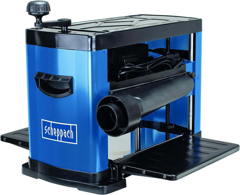 Scheppach Cepilladora PLM1800 (1500 W, 2 cuchillas de cepillado, velocidad del eje de cepillado: 8500 min-1, altura de paso: 152 mm/330 mm, virutas máx.: 2,8 mm): Amazon.es: Bricolaje y herramientas