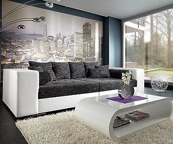 Wunderbar XXL Sofa Marlen Schwarz Weiss 300x140 Cm Bigsofa