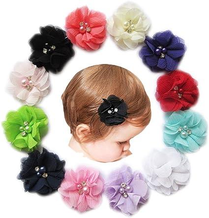 Baby Hair Clip Chiffon Flower Clip Nylon Headband Hair Accessories