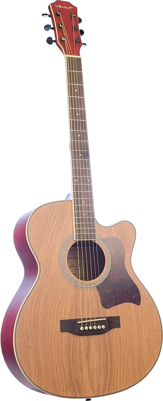 Vault 41-Inch Cutaway Acoustic Guitar - Natural Austin Bazaar ED10CN