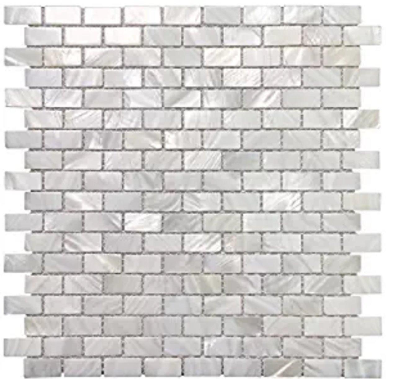 AFSJ Genuine Mother of Pearl Subway Mosaic Tile For Bathroom/Kitchen/Spa Backsplash