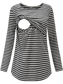 Still-Top Stillen Bluse T-Shirt Breastfeeding Nursing Top Kleidung fest Weich