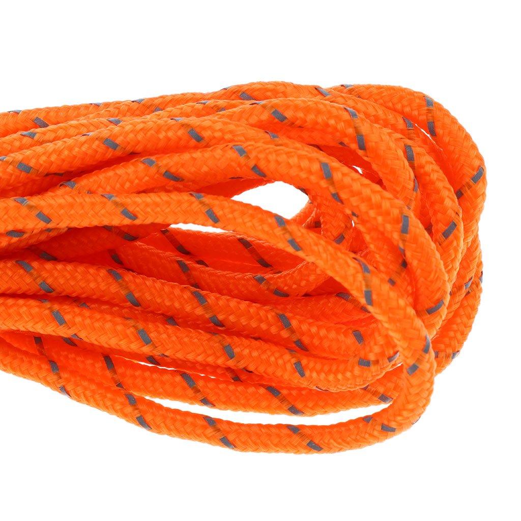 4m 4mm Reflektierenden Zelt Guy Line Seil Mit 3 Loch Einsteller F/ür Wandern Tarps FLAMEER Satz Von 4pcs 2m