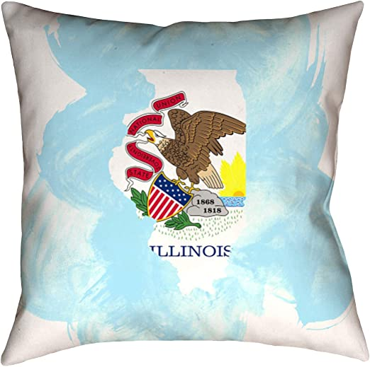 Pillow-Faux Suede Double Sided Print with Concealed Zipper ArtVerse Katelyn Smith California Love Watercolor 16 x 16 Pillow Cover Only