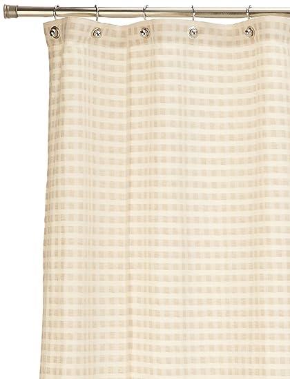 Coyuchi Cotton Linen Shower Curtain Birch Natural Amazoncouk Kitchen Home