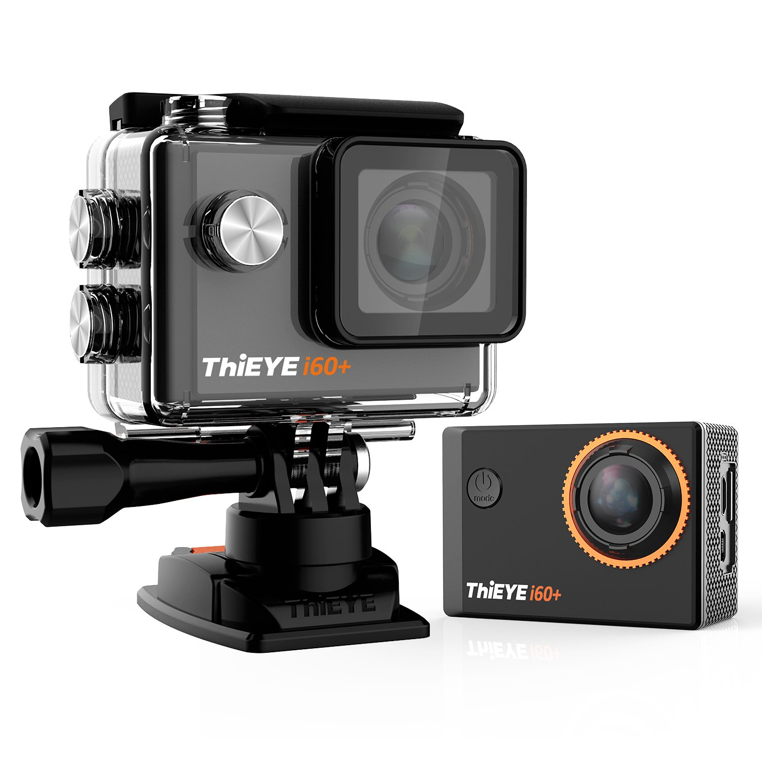 ThiEYE Original i60+ 4K Wifi Action Camera 2'' HD Screen 197FT Waterproof Video Sport Cam 170 Wide Angle APP Control with Full Accessories