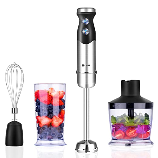 ikich Professional 4 Juego de mano Blender Set, 5 Speed Smart ...