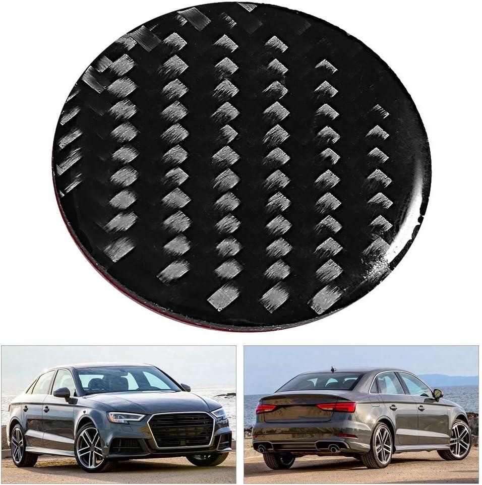 Yctze Bouton de voiture garniture Fibre de carbone Contr/ôle central Bouton multim/édia Bouton d/écoration autocollant Convient pour A3 A4 8V 2014-2019