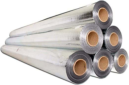 Aes Heavy Duty Radiant Barrier Insulation Aluminum Foil 500 Sqft 4x125 Perforated Amazon Co Uk Garden Outdoors