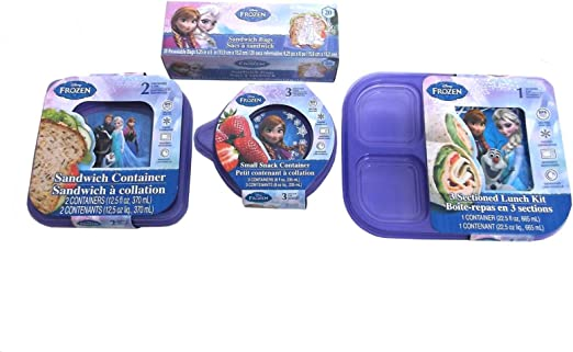 Disney Frozen sandwich /& snack size lunch containers NEW