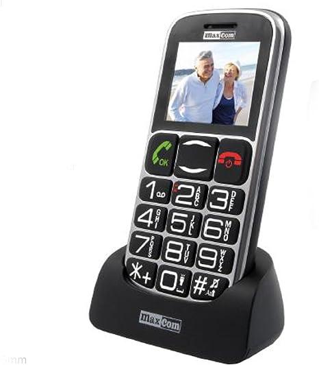 MaxCom MM462 - Teléfono móvil Desbloqueado con botón Grande para Ancianos Mayores y Adultos con botón Sos y cámara: Amazon.es: Electrónica
