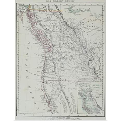 Amazon Com Greatbigcanvas Poster Print Entitled Map Of Pacific