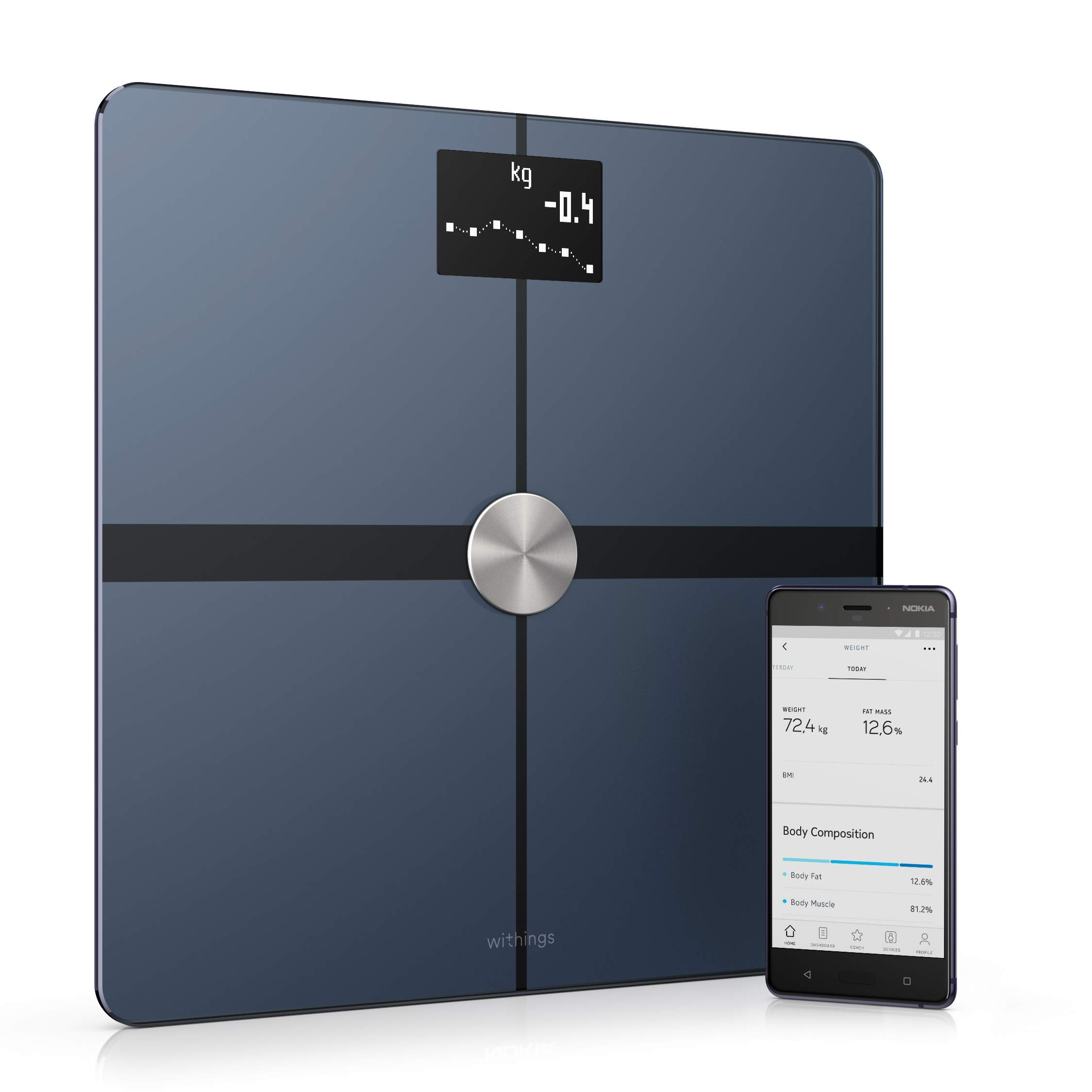 Withings Body+ - Smart Body Composition Wi-Fi Digital Scale with smartphone app, White by Withings