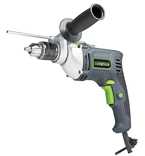 Genesis 1 2quot 75 Amp Variable Speed Reversible Hammer Drill With Chuck Key