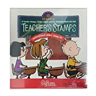 Peanuts Rubber Stampede Teacher's Motivational Rubber Stamps Kit
