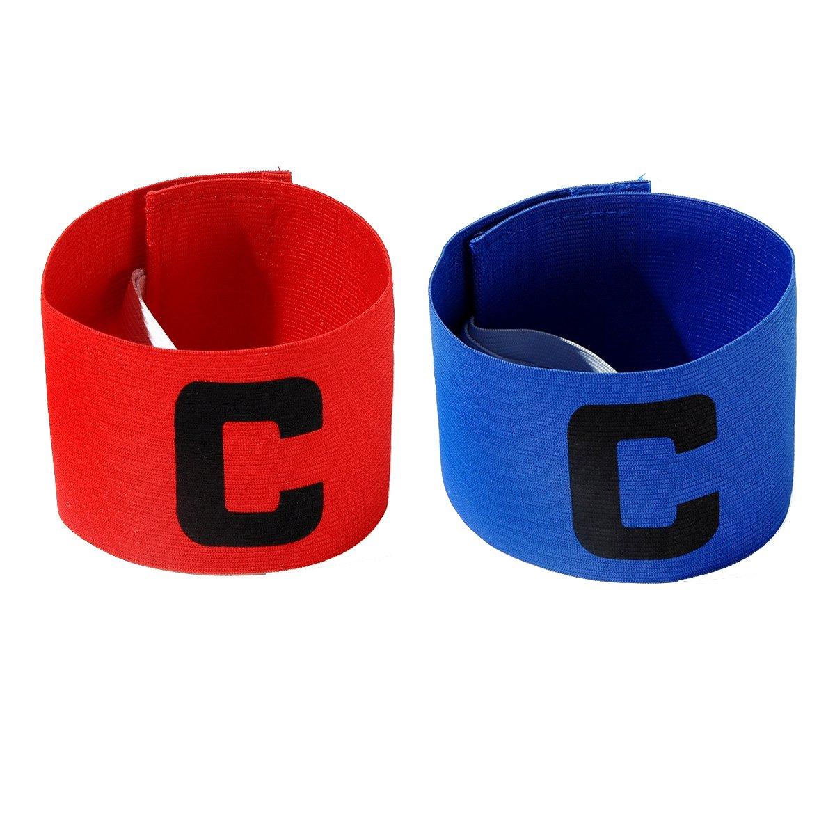 Jiele Multicolor Fußball Captain Armband, Fußball C Standard Gummizug Armband für Kinder, Roll-Klettverschluss, geeignet für viele Arten von Sport Meichin
