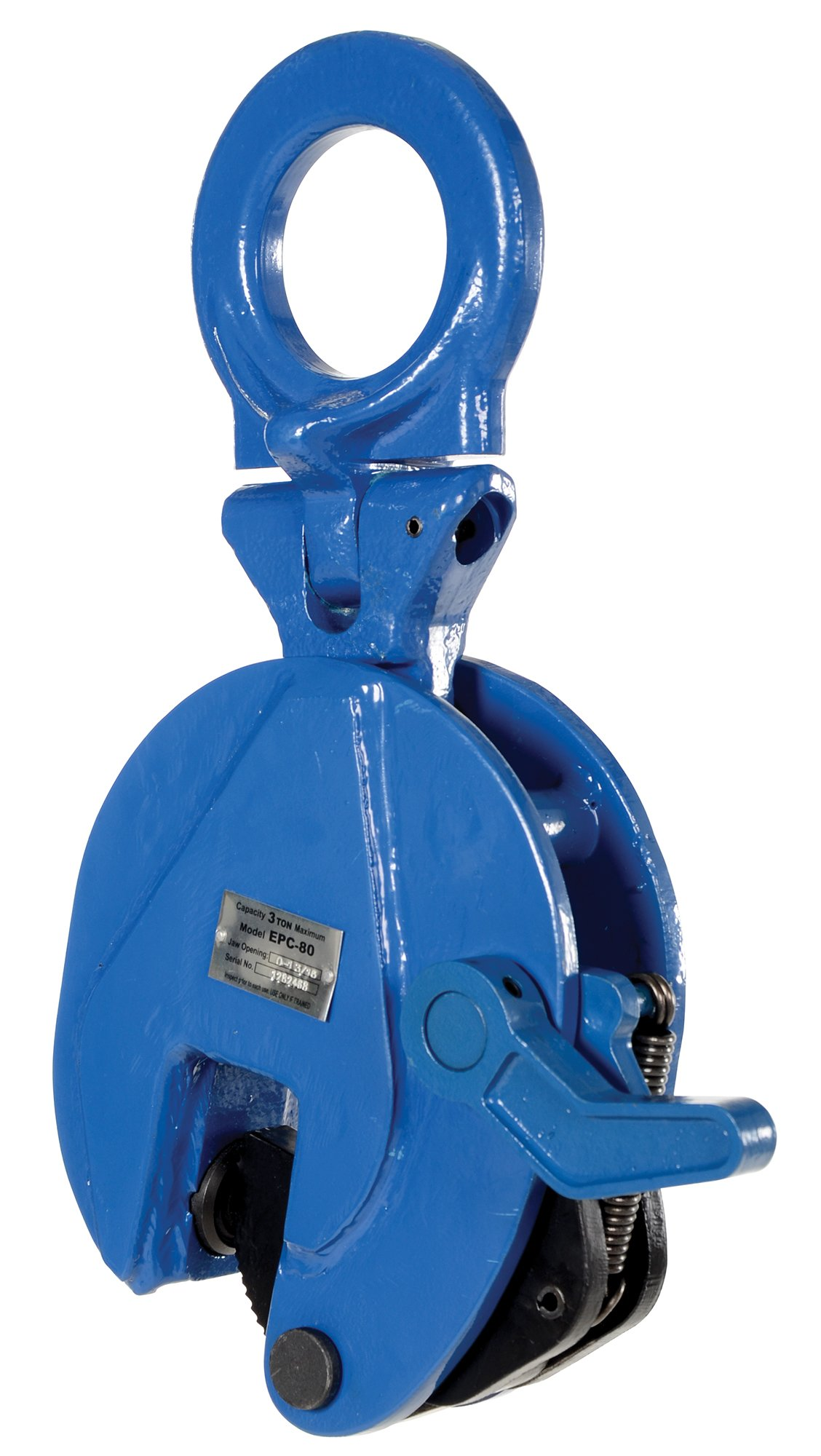 Vestil EPC-80 Vertical Plate Clamp, 1.19'' Plate Thickness, 6600 lbs Working Load Limit, 2.38'' Bale Opening