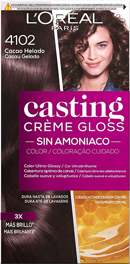 LOreal Paris Casting Crème Gloss Baño De Color 4102 Cacao ...