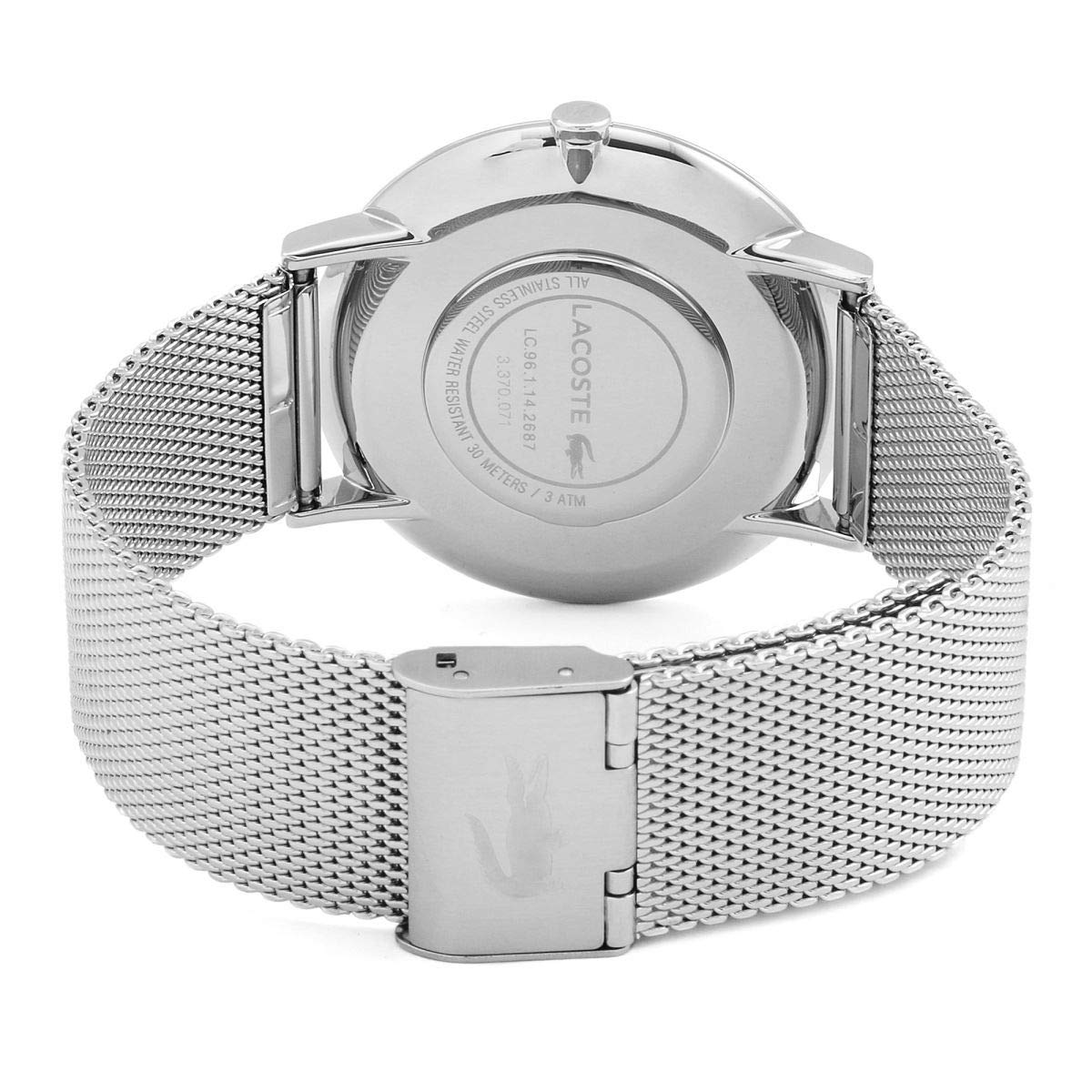 Amazon.com: Lacoste Mens Moon 2010900 Silver Stainless-Steel Quartz Fashion Watch: Lacoste: Watches
