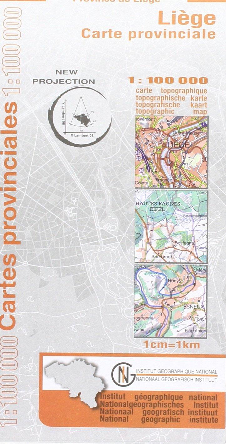 Lüttich / Liège Provinzkarte 1 : 100 000 (Mehrsprachig) Landkarte – 1. Dezember 2009 NGI 9059345886 Karten / Stadtpläne / Europa Belgien