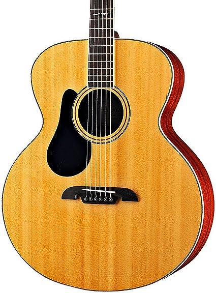 Alvarez abt60l Lefty barítono guitarra acústica w/púas, afinador y ...