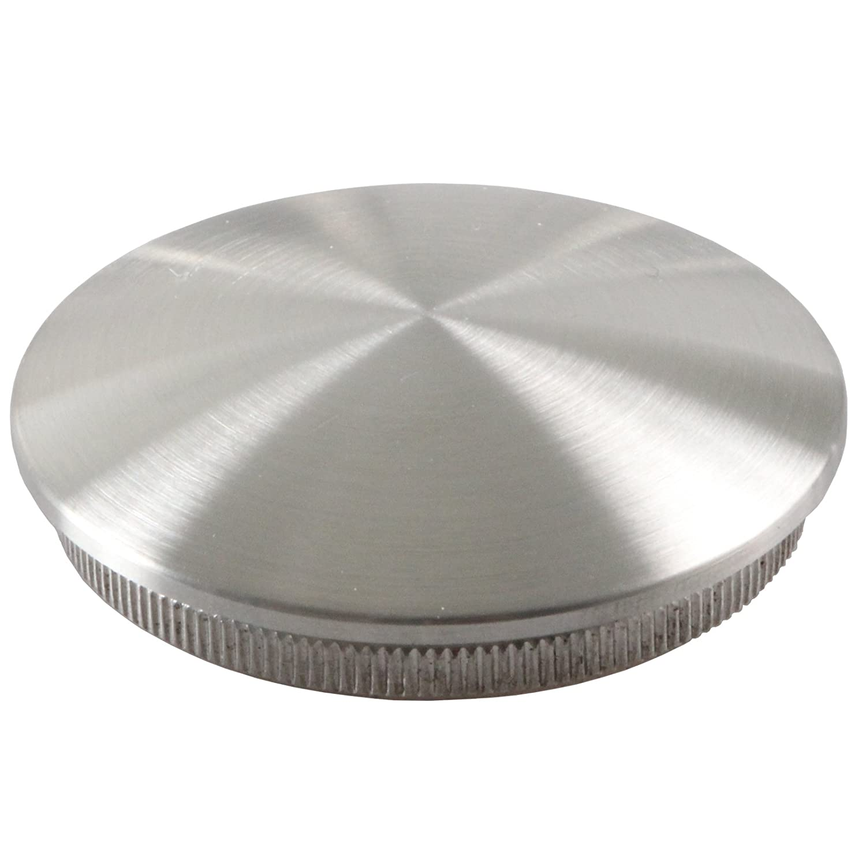 Edelstahl Rohrstopfen Endkappen V2A Abschlussdeckel Verschluss Gel/änder Stopfen Hohl 2 St/ück leicht gew/ölbt mit M8 Gewinde