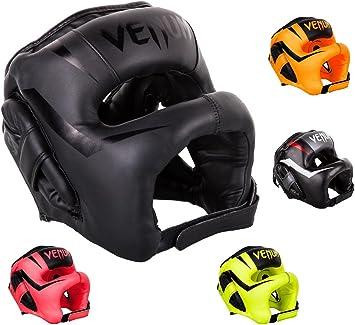 Venum Kopfschutz Elite Black//White Kopfschutz Boxen MMA Kampfsport Kopfschützer
