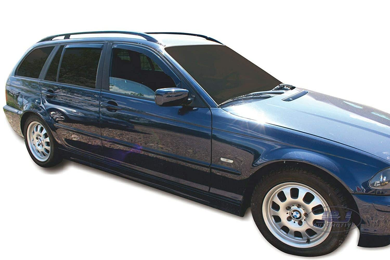 J&J AUTOMOTIVE | Deflecteurs d'air Déflecteurs de Vent Compatible avec BMW 3 E46 5Portes Break 1998-2004 4pcs